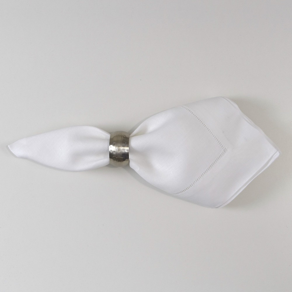 White Dinner Hemstitch Napkin