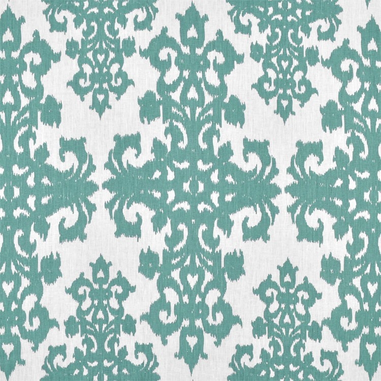Casablanca Faded Turquoise on Ivory Grace