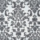 Antibes Damask Smoke Grey on Ivory