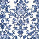 Antibes Damask Denim on Ivory